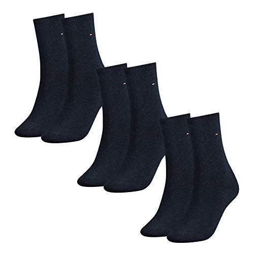 Tommy Hilfiger Damen Socken, Classic, Strümpfe, 6er Pack (Blau, 35-38 (6 Paar))