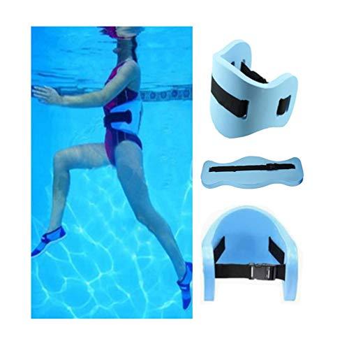 ZWIFEJIANQ Swim Floating Belt - Water Aerobics Exercise Belt - Aqua Fitness Foam Flotation Aid - Swim Training Equipment for Low Impact Swimming Pool Workouts & Physical Therapy (Blue)