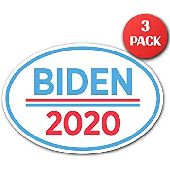 CUSTOMI 6.5 x 4.5 Joe Biden for President Oval Bumper Sticker Decal 2020 United States Presidential Election Candidate GOP 3