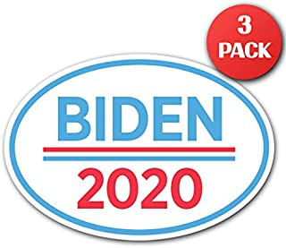 """CUSTOMI 6.5"""" x 4.5"""" Joe Biden for President Oval Bumper Sticker Decal - 2020 United States Presidential Election Candidate GOP (3)"""