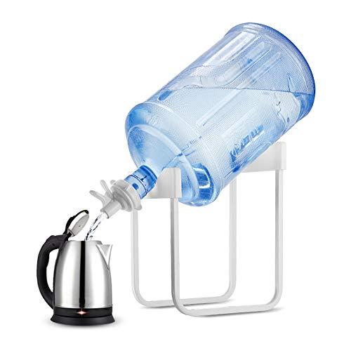N / E Soporte para dispensador de Agua Soporte para Jarra de Agua de 2-5 galones, Soporte de Agua Antideslizante Resistente a la oxidación con válvula de Grifo Diámetro 55 mm Sin BPA