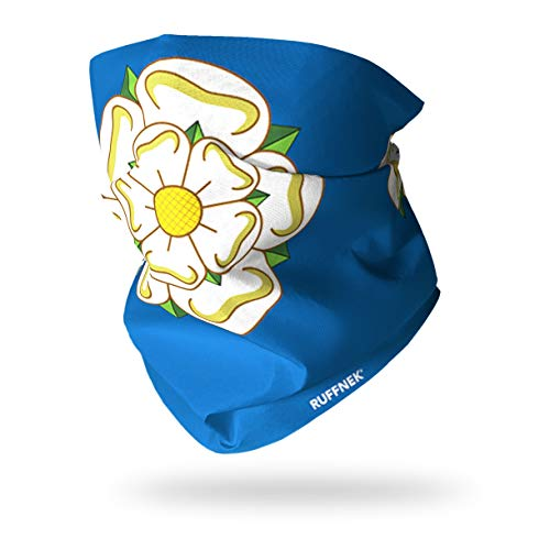 Ruffnek Yorkshire Rose Drapeau - Cache-Cou / Bandeau / Multifonctionnel Écharpe - Taille Unique pour Homme, Femmes et Enfants - Pour le sport et le plein air