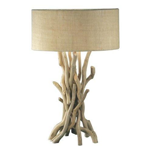 Modern Home Nautical Driftwood Table Lamp, Brown