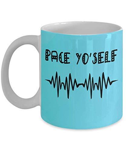 Maureen52Dorothy Coffee Mugpace Yo'self - Ritmo cardíaco y humor hospitalario, Ekg, ritmo acelerado, regalo de enfermería, telemetría, cardiología