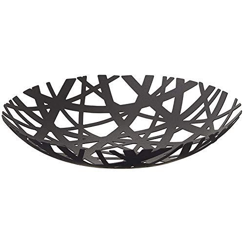 Luntus 2498 Tower Frutero - Soporte moderno para cesta de cocina, color negro