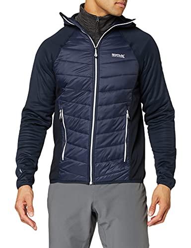 Regatta Herren Andreson V Stretch Water Repellent Insulated Compressible Lightweight Hooded Hybrid Jacket Jacke, NVY/NVY(wht), L