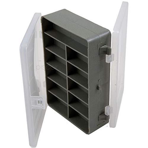 Lineaeffe Boîte Accessoires 5 11 x 7 x 3 cm Boîte de Pêche Rangement Accessoire Leurre Hameçon Compartiment Plastique
