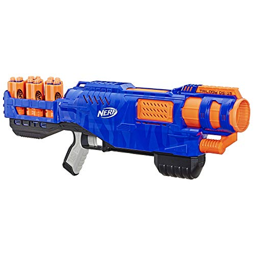 NERF Elite - Triology DS 15 Blaster - Inc 15 Official Elite Darts & 5 Shells - Kids Toys & Outdoor Games - Ages 8+