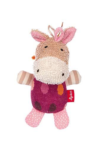 SIGIKID Mädchen und Jungen, Greifling mit Glöckchen Hoppe Dot, Babyspielzeug, empfohlen ab 3 Monaten, Lila/beige, 39252