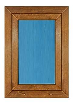 Foto di (V19T) Finestra PVC richiudibile oscillante destra 800 x 1000 1 ventaglio Roble Dorado