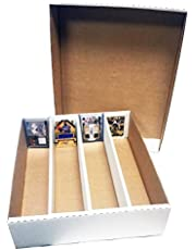 Max Protection (3) Monster 4-Row Storage Box Holds 3,200 Trading Cards by MAX Pro 3200ct Half Lid - For Baseball, Football, Hockey, Soccer Cards by