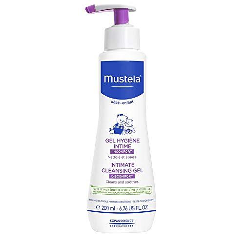 Mustela Gel Higiene Áreas Delicadas, Mustela Bebê, Roxo, Médio/200 ml
