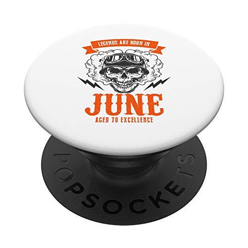 Camicia regalo di compleanno Legend per uomini nati a giugno PopSockets PopGrip: Impugnatura per Telefoni Cellulari e Tablet Intercambiabile