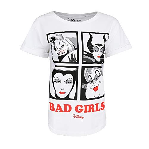Disney Bad Girls Camiseta, Blanco (White Wht), 44 para Mujer