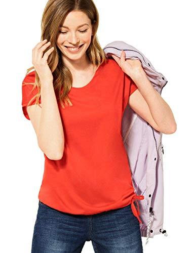 Cecil Damen 316035 T-Shirt, Papaya orange, XXL