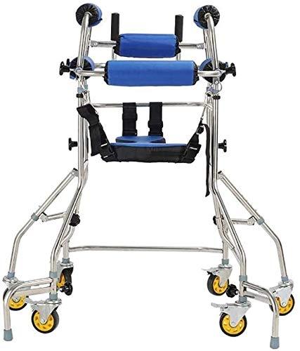 QIYUE Walker, Walker Stevige opvouwbare rollator for ouderen opvouwbare walker instelbare Walker met Leuning kussen for ouderen