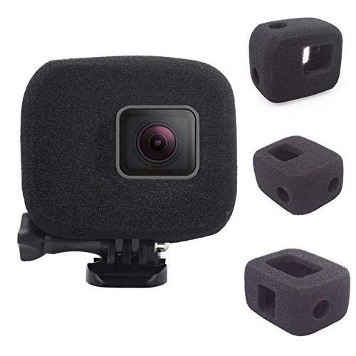BAAQII 2 Stück Schaumstoff Windschutzscheibengehäuse Windslayer für GoPro Hero 7/6/5 Schwarz - Schwamm Schallschutzhaube für Audio- und Videoaufnahmen im Freien