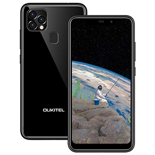 OUKITEL C22 (2021) Smartphone ohne Vertrag, 128GB ROM + 4GB RAM, Dual-SIM Android 10 Handy, 4000mAh Akku, 5,86 Zoll Display, Dreifach-Kamera, 256GB Erweiterbar, GPS (Schwarz)