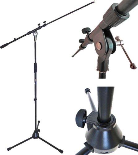 keepdrum MS107B Mikrofonständer Mikrofonstativ mit Galgen und Metall-Sockel +++++