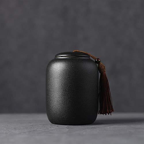 XZYP 1pcsblack Keramik Aufbewahrungsbehälter Teeblätter Container Tee kann Porzellan Teedosen Gewürzdose Food Container Küche Zubehör,B