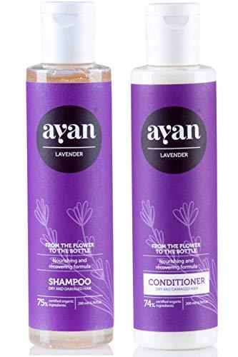 AYAN Naturkosmetik Shampoo und Conditioner für trockene Haare ohne Silikone, Parabene und Sulfate 2 x 200 ml
