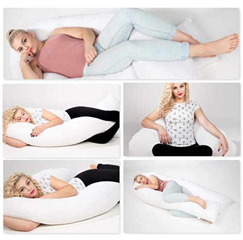 chilimilii 12 Ft Big U-shpaed pillow,Pregnancy Pillow, U-shaped full body...