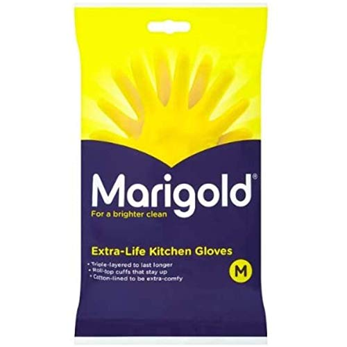 Marigolds Extra Life kitchen Glove Medium 1 x 3 pairs
