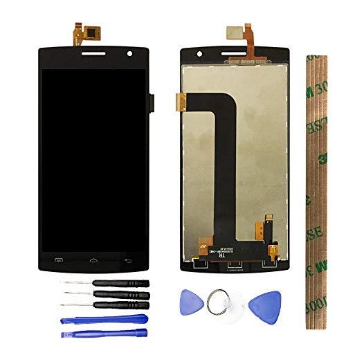 JayTong - visualización LCD y digitalizador de visualización táctil de Repuesto para Doogee Kissme DG580 Negro