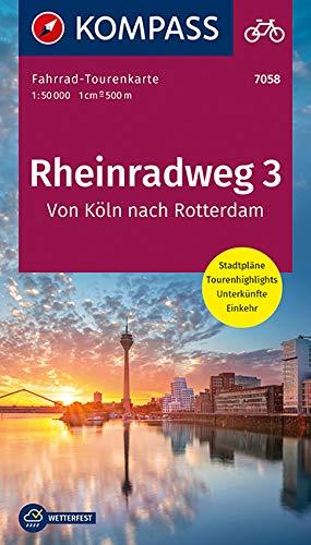 Fahrrad-Tourenkarte Rheinradweg 3, Von Köln nach Rotterdam: Fahrrad-Tourenkarte. GPS-genau. 1:50000. (KOMPASS-Fahrrad-Tourenkarten, Band 7058)