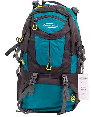 Mediablue 50L Bergsteigen Backpack Outdoor Leicht Rucksack Klettern Wanderrucksack Reise Sport Tagesrucksack Camping Trekkingrucksack Fahrrad (Türkis, 50 Liter)