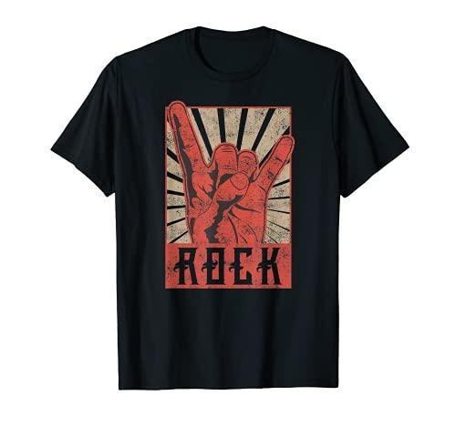 Affiche vintage effet vieilli du groupe de rock des années 60, 70, 80 T-Shirt