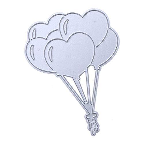 Floridivy Scrapbooking Embossing Dies Love Heart Balloon Metal DIY Crafts embossingstencils, Card Card Making Metal Dies Stencils