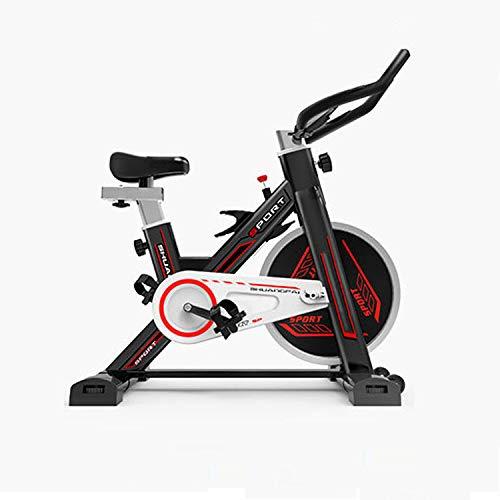 Fitnessfiets, spinningbike, fitnessuitrusting met pedaal, stil, verstelbare stoelen en armleuningen, multifunctionele wijzerplaat, driehoekige houder.