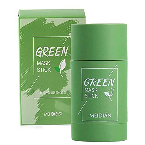Green Mask Stick, Mascarilla de Limpieza Profunda, Mascarilla en Barra Sólida, Purificante en Barra de Arcilla, Mascarilla de Arcilla Stick, Hidratar Piel, Ajustar el Equilibrio de Agua y Aceite