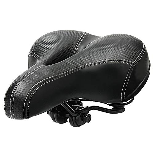 LXVY Bike Saddle Bicycle Seat with Soft Cushion Cushion Pad Shockproof Design Big Bum Extra Comfort Bicycle Seat for Road City Bikes, Mountain Bike and Indoor Spin Bikes