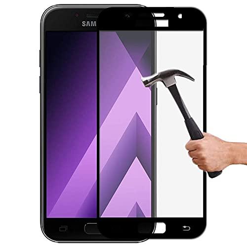 Lapinette - Protector de pantalla de vidrio templado para Samsung Galaxy A5 2017 integral, 9H Force Glass – Protección completa de vidrio templado