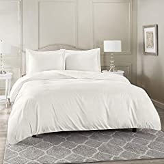 PREMIUM HIGH-QUALITY MATERIAL: Our hotel collection bedding set is woven from the highest quality microfiber material, double brushed on both sides for ultimate softness and comfort. Lightweight, breathable and cool to the touch, our luxuriously soft...