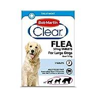 Bob Martin Clear | Flea Tablets for Large Dogs (11kg+) | Effective Treatment, Kills 100% of Fleas wi...