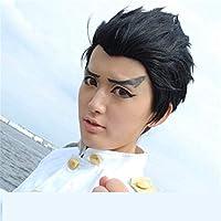到着アニメバランス:無制限の神戸大輔コスプレウィッグコスプレ石丸清隆/ヤクザ30cm黒髪ウィッグ
