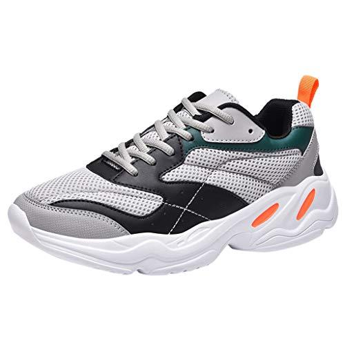 Flamedre - Sneakers Leichte Anti-Rutsch-Wanderschuhe Sport Torre britischen Stil Schuhe Schuhe Sportschuhe Herren Turnschuhe Laufschuhe Atmungsaktiv Gym Sport-laufende Schuhe Grau schwarz beige