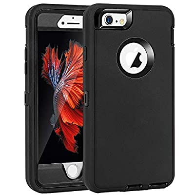 """MAXCURY Heavy Duty Shockproof Series Case Compatible for iPhone 6 and iPhone 6S (4.7"""") Case - V2 with Built-in Screen Protector Compatible with All US Carriers"""