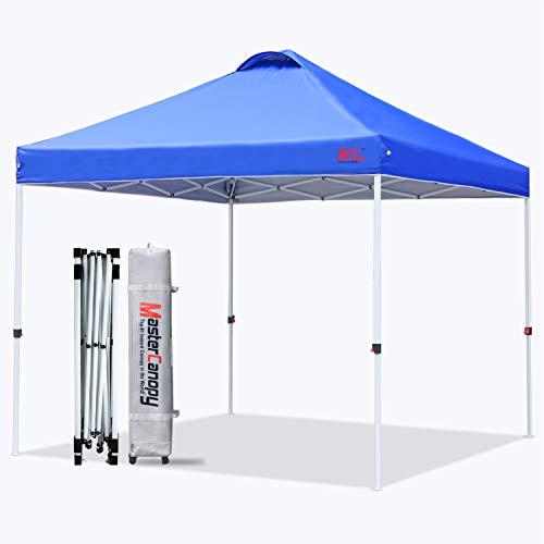MasterCanopy 5 x 5 Pop Up Toldo Portátil Tienda de campaña Bonus Bolsa de Transporte y estacas de Tienda de campaña
