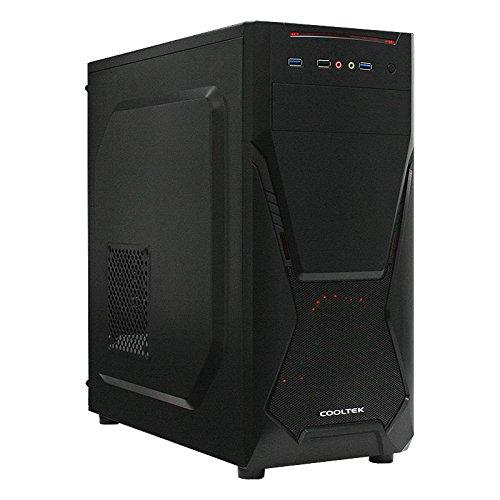 Cooltek X5, ATX Midi Tower, 2 x USB 3.0, 1 x USB 2.0, schwarz