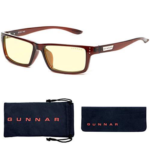 GUNNAR Gaming and Computer Eyewear/Riot, Amber Tint - Patented Lens, Reduce Digital Eye Strain, Block 65% of Harmful Blue Light