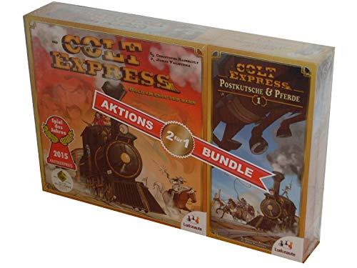 Asmodee; Ludonaute Colt Express Bundle, Grundspiel + 1. Erweiterung (Spiel)