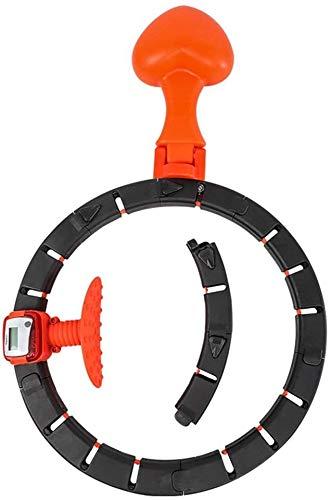 Hula Hoop Fitness Desmontable Recuento inteligente Hula Hoops, aros de hula removibles que no se caerá, 8 secciones desmontables, aros profesionales de hula, for ejercicio, aptitud en el hogar, negro