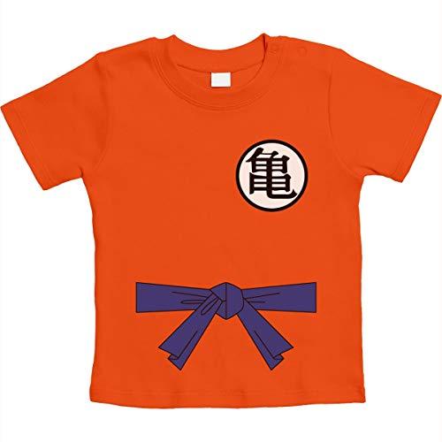 Süßes Anime Dragon Kampfsport Body für Babys Unisex Baby T-Shirt Gr. 66-93 3-6 Monate / 66 Orange