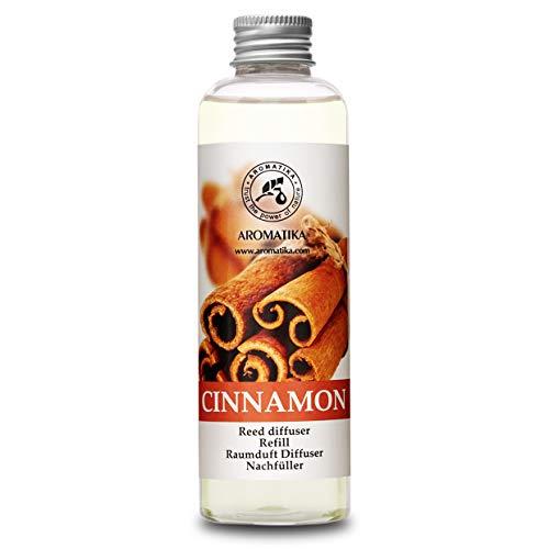 Ricarica Diffusore con Olio Essenziale di Cannella 200ml - Fragranza Fresca e di Lunga Durata - Alcool 0% - Ideale per...
