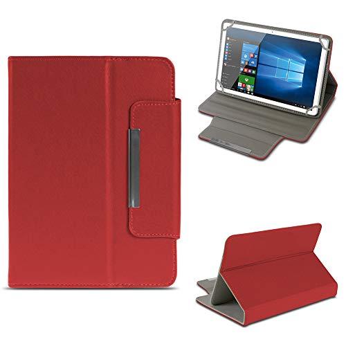 NAUC Tablet Tasche für Archos 101b Oxygen Hülle Schutzhülle Case Schutz Cover Stand, Farben:Rot