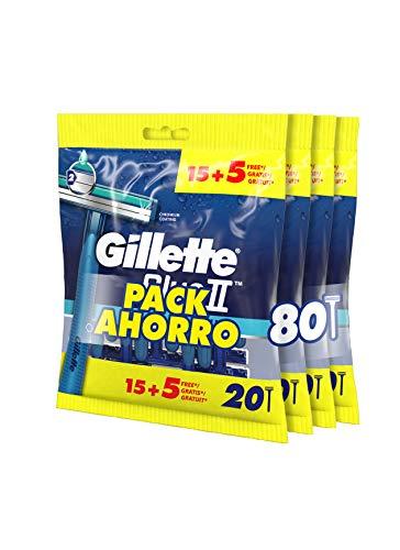 Gillette BlueII Maquinillas Desechables Para Hombre 15 + 5, Dos Hojas